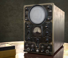 Vintage Russian Oscilloscope (C4D, SP, Arnold)