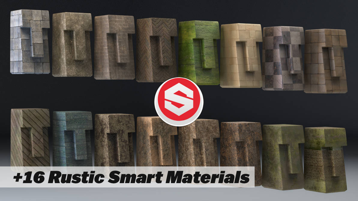 Substance Painter Smart Material Rustic 16 Pack by botshow on DeviantArt