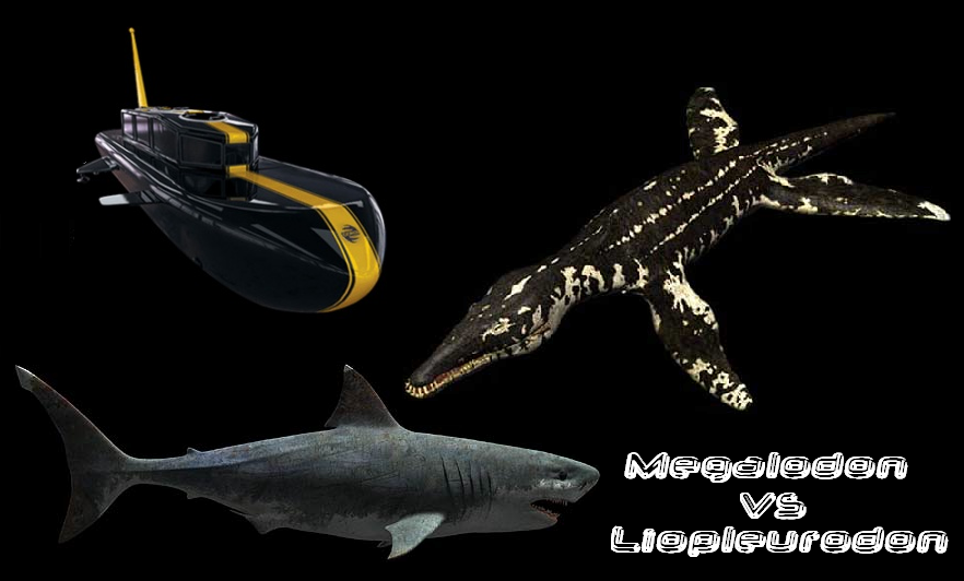 Megalodon Vs Predator X Vs Liopleurodon | www.pixshark.com - Images Galleries With A Bite!