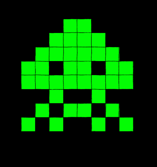Space invaders Enemy type 2 by Maleiva