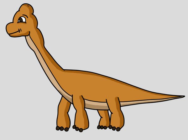 Cute brachiosaurus by Maleiva
