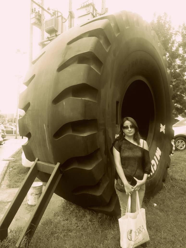A big tire