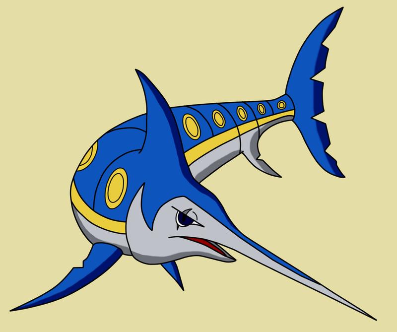 Swordfish pokemon by Maleiva