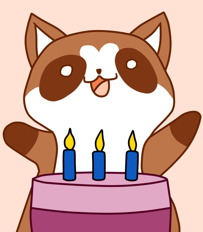 Mapachi's Birthday by Maleiva