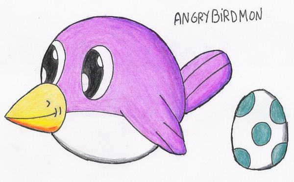 Angrybirdmon by Maleiva