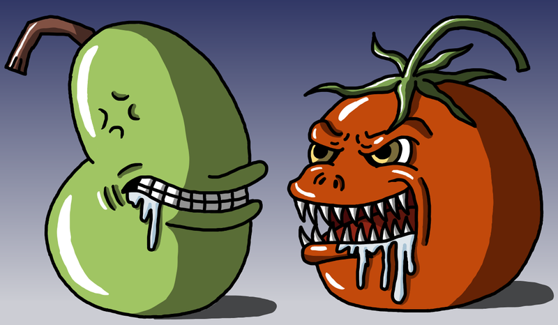 Lol Wut vs killer tomatoe by Maleiva