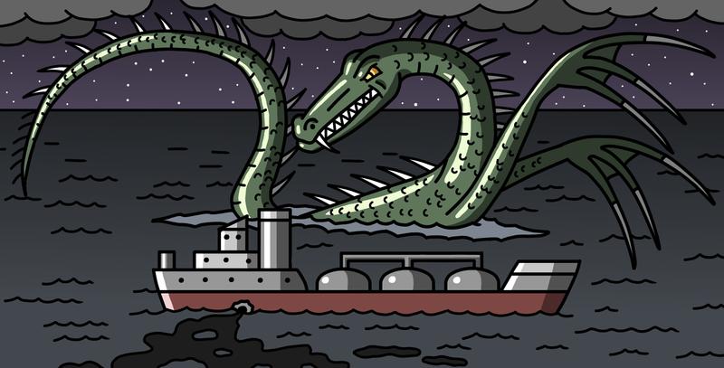 Marine monster by Maleiva