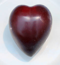 Plum with a heart shape by Maleiva
