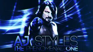 AJ Styles 4th Desktop Wallpaper by KosmosGFX