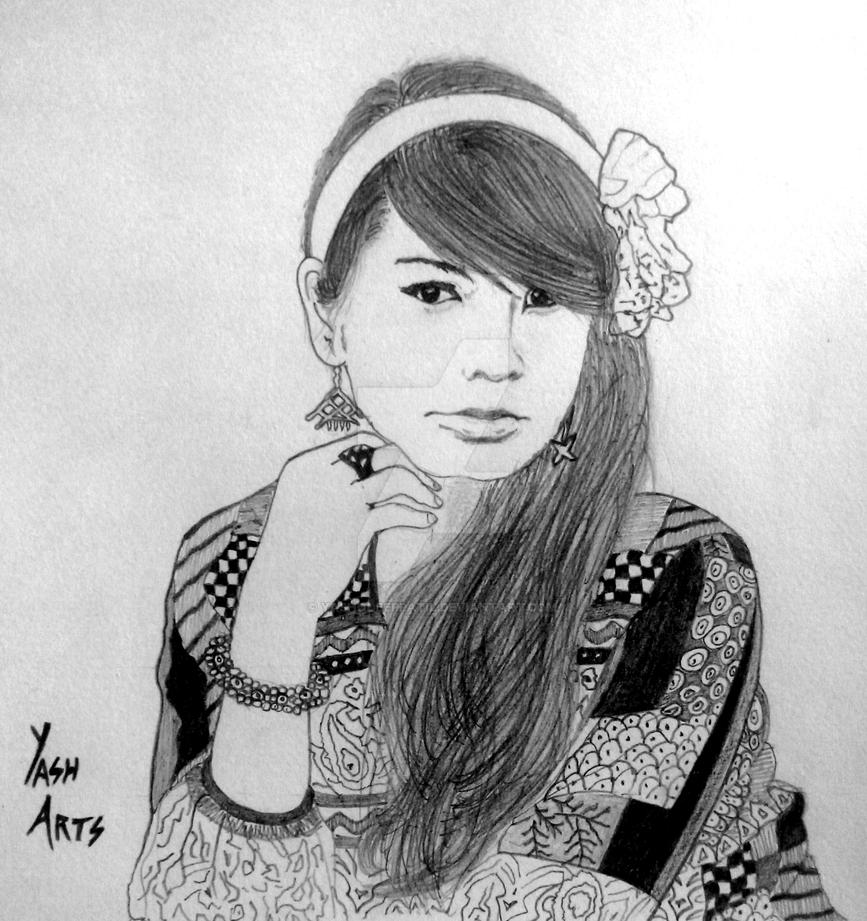 Cute Girl Portrait Sketch By Yash By Yashodeeppatil On