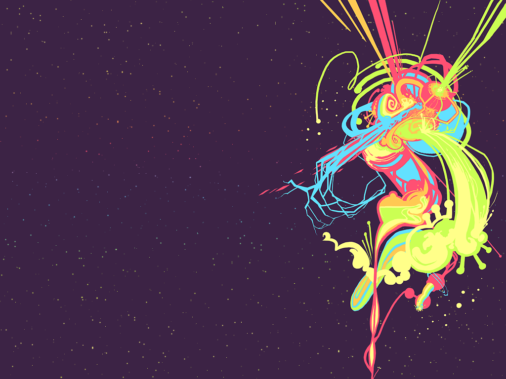 Rainbows in Space: a wallpaper