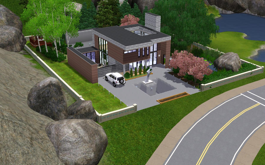 Sims 3 modern house No001 by InsomnicPixel on DeviantArt