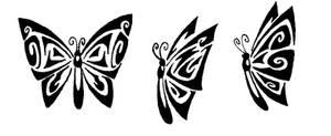 Butterflies Tribal