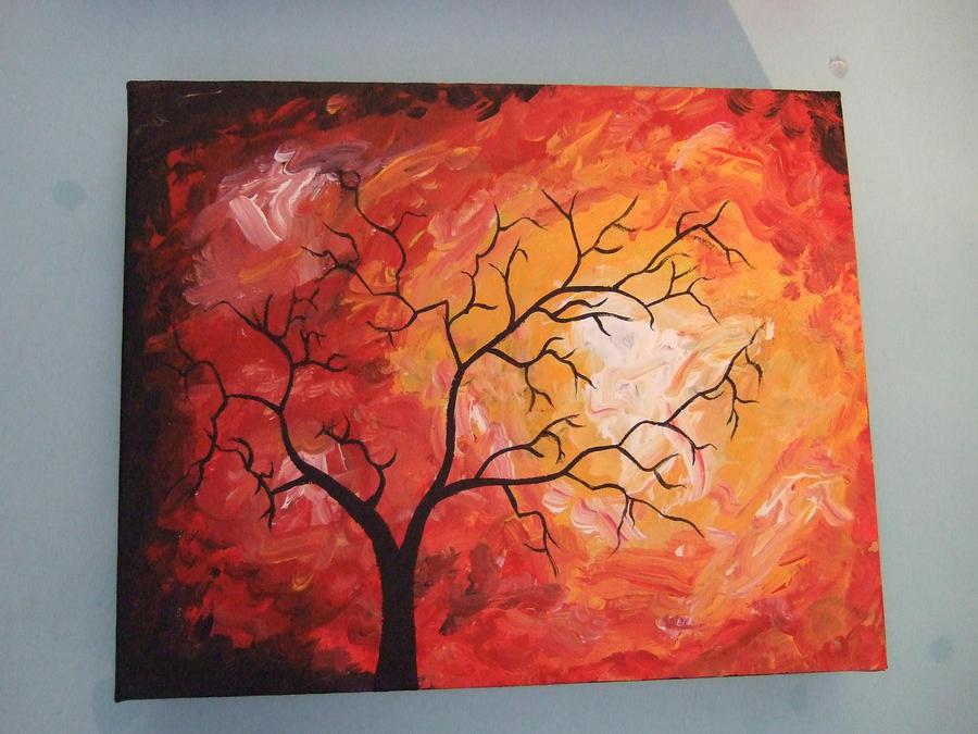 tree against the sun by frankiecrazygirl