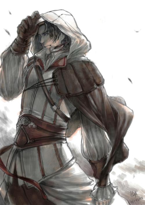 Assassin's Creed 2 Fan Art - Ezio Auditore by FrothTheStargazer