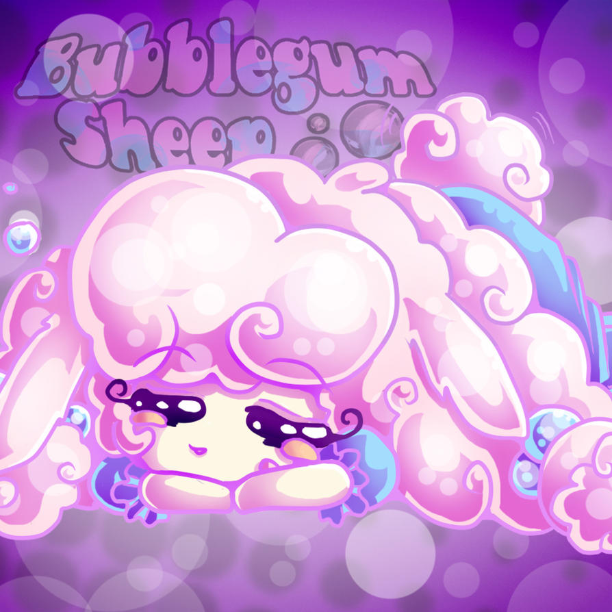 Bubblegum Sheep Sleeping by ChosenVowels