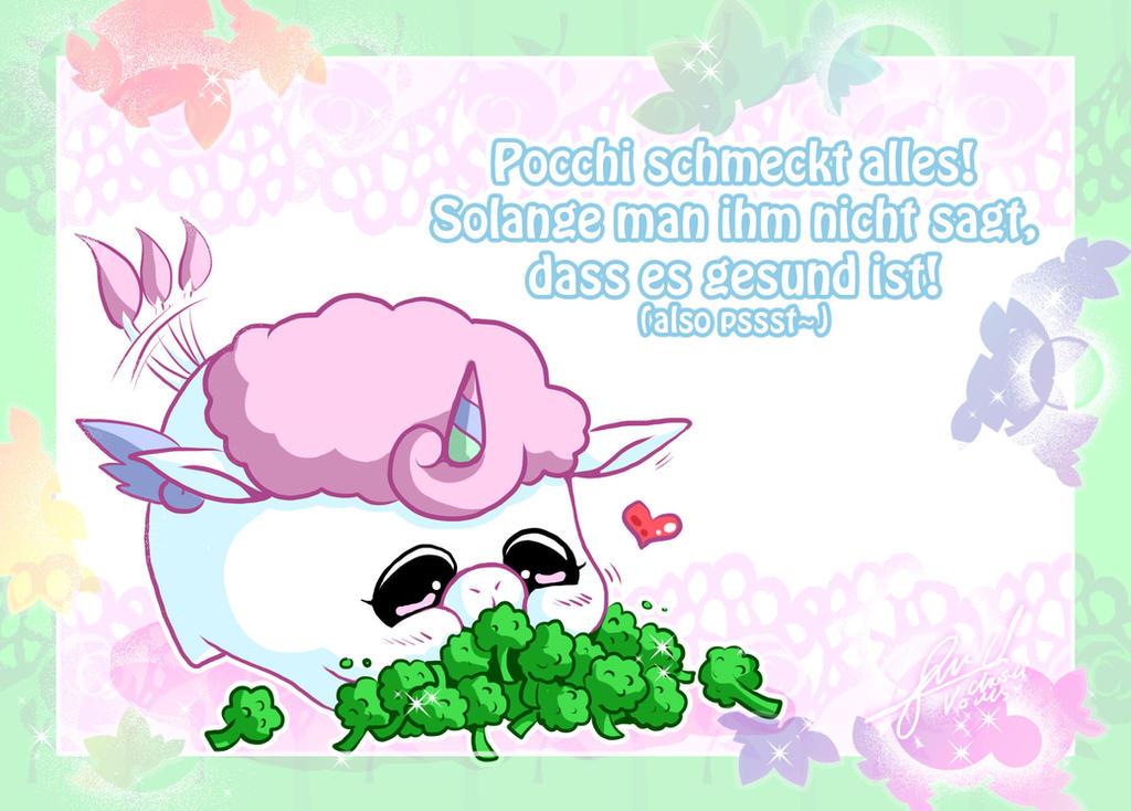 Pocchi loves Broccoli by ChosenVowels