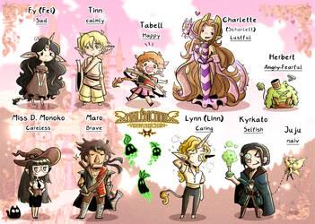 Malediction Charakters (Comic style)