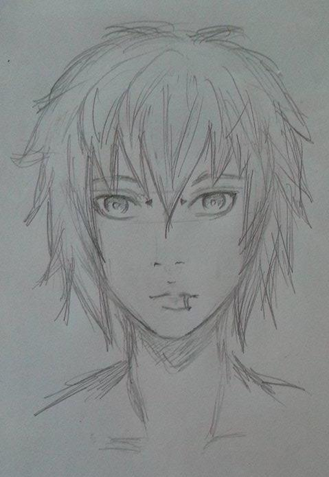 Anime Pencil Drawing Of A Boy