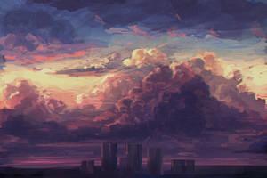 Predawn Fantasy Speedpaint by Hunternif