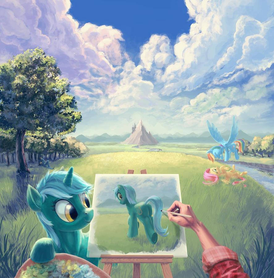 painter_in_equestria_by_hunternif-d8ytmk