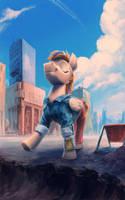 Carefree Pony [Comm 1/7] by Hunternif