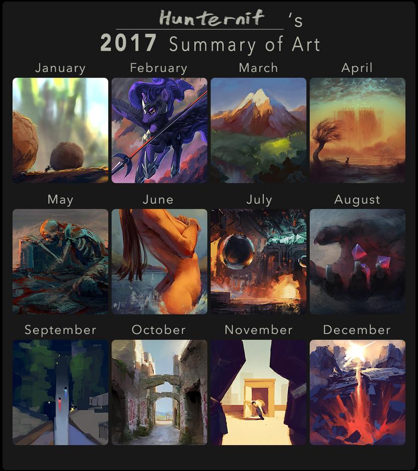 Hunternif's 2017 Summary of Art by Hunternif