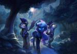 Night patrol by Hunternif