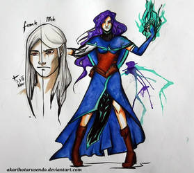 Sketchbook tour: Mage/ gender swapped Character by AkariMordum