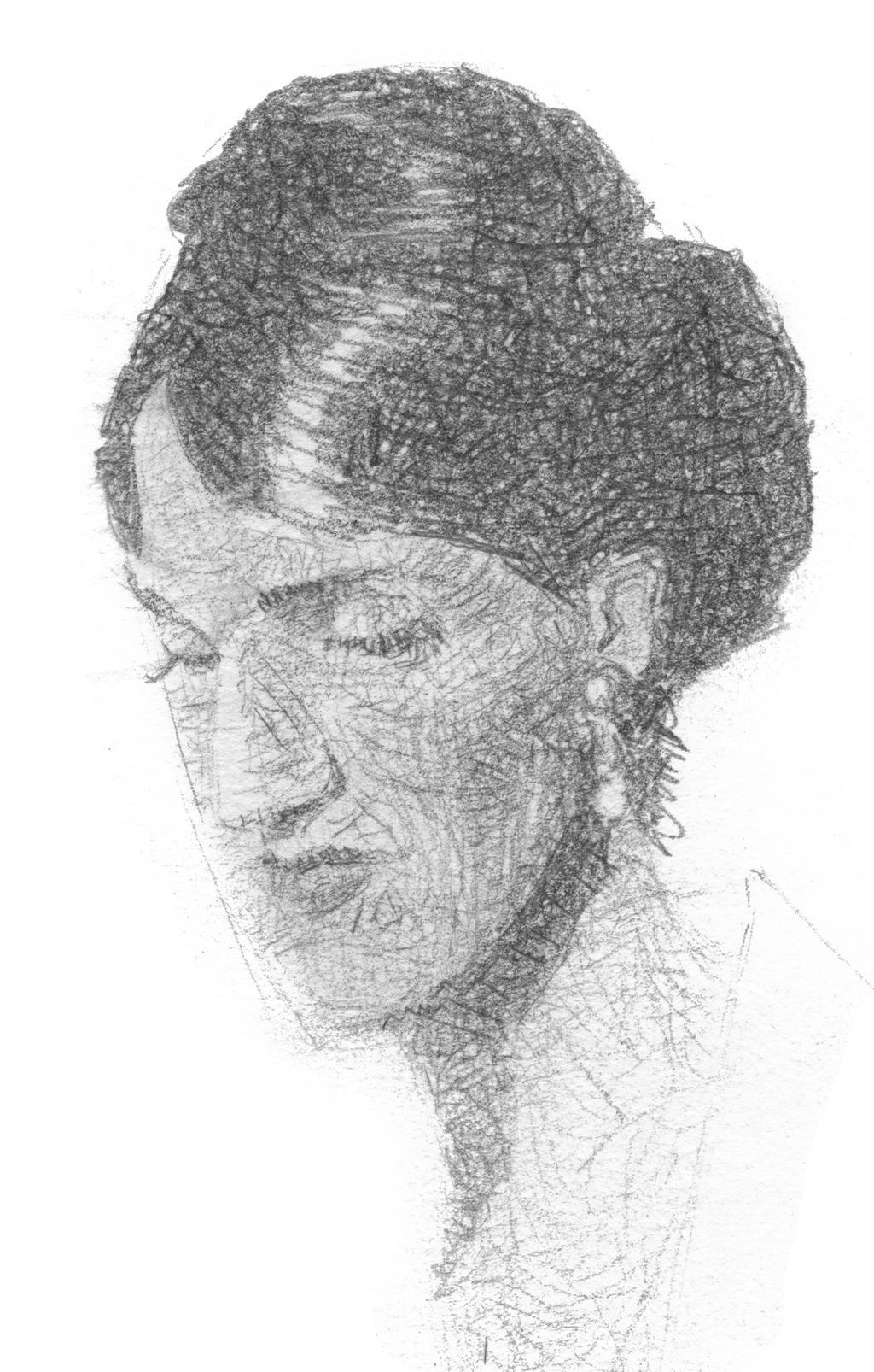 Woman looking down by sebastianmartino