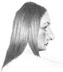 WOMAN LONG HAIR
