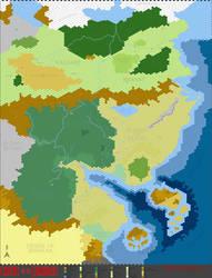 Barbarians of Lemuria hex map