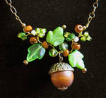 Acorn and Oak Leaves Necklace