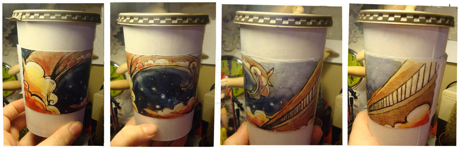 Coffee Cup Sleeve Design by wikkedvenus