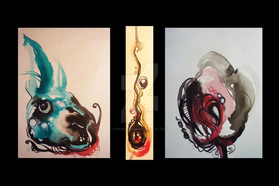 Ink work trio by wikkedvenus