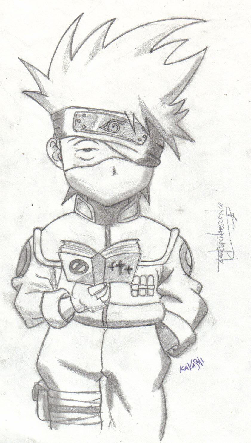 Chibi Kakashi from Naruto by AlanEspenaescence on DeviantArt