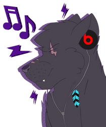 Rune Listening To Music
