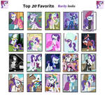 Top 20 Rarity Looks by cartoonsbest