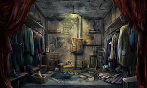 Closet scene