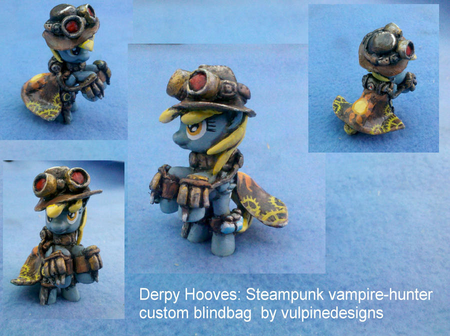 MLP FiM custom: Derpy the Steampunk Vampire Hunter by vulpinedesigns