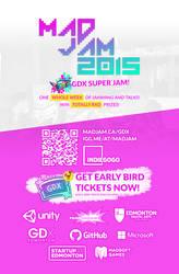 MADJAM 2015: GDX Super Jam - Early Bird Tickets by AndrewDavidJ
