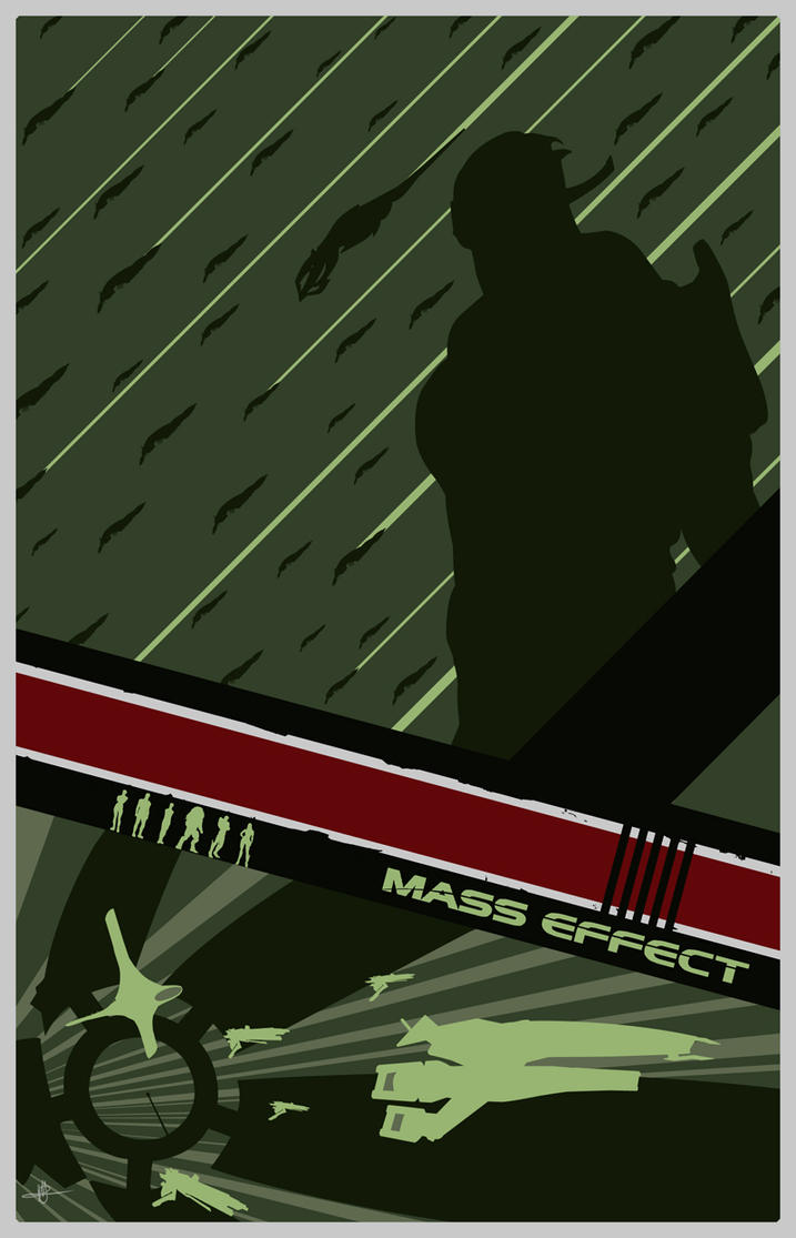 Mass Effect 1 Poster by Fire1138