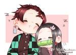 [Fanart] Tanjirou and Nezuko from Kimetsu no Yaiba