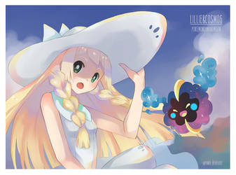 Hello Alola! Lillie and Cosmog by PandaBear3000