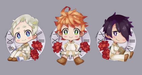The Promised Neverland- CHIBIS by PandaBear3000