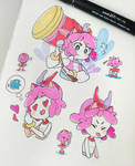 Some Amy Rose doodles