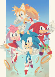 Happy 29th Birthday, Sonic! by small--panda