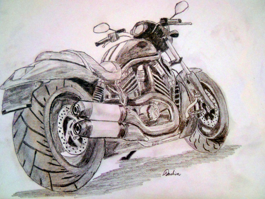 Harley Davidson V Rod Sketch By Artistsac On Deviantart
