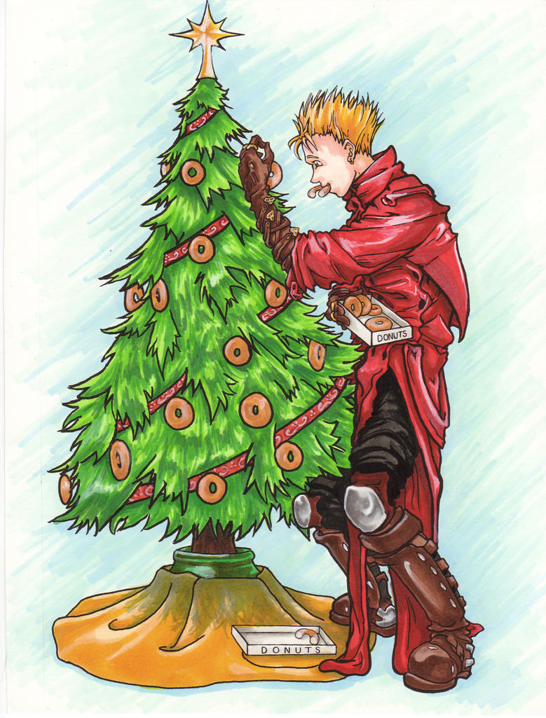 VASH Christmas Tree Donuts Colored by Aerio-chan on DeviantArt