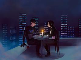 Dick and Zatanna [commission] by KirielEzechiel